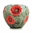 Franz Collection Porcelain Poppy Flower Porcelain Mid Size Vase