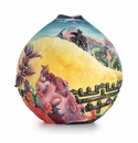 Franz Porcelain Collection Sacred Mountain Medium Vase