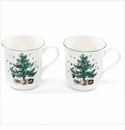 Nikko China Dinnerware Christmastime Coffee Mugs (Set Of 2)