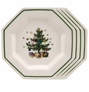 Nikko China Dinnerware Christmastime Salad Plate (4)