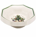 Nikko China Dinnerware Christmastime All-Purpose Bowl (Set Of 4)