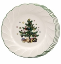 Nikko China Dinnerware Happy Holidays Salad Plates (Set Of 4)