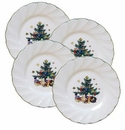 Nikko China Dinnerware Happy Holidays Bread & Butter Plates (Set Of 4)