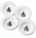 Nikko China Dinnerware Happy Holidays Rim Soup Bowls (Set Of 4)