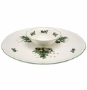 Nikko China Dinnerware Christmas Giftware Chip & Dip