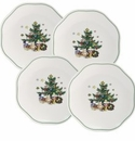 Nikko China Dinnerware Christmas Giftware Appetizer Plate (Set of 4)