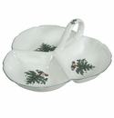 Nikko China Dinnerware Christmas Giftware Three-Section Tray