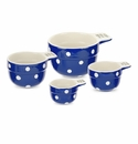 Spode Baking Days Set of 4 Measuring Cups - Dark Blue