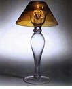 Abigails Bistro Lamp with Amber Shade