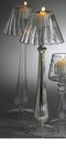 Abigails La Boheme Bistro Lamp Clear Ribbed Traditional