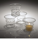 Abigails La Boheme Clear Votives (Set of 4)