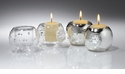 Abigails La Boheme Clear Round Votives (Set of 4)