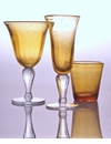 Abigails Amber Bubble Wine Glass
