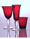 Abigails Red Bubble Glass Tumbler