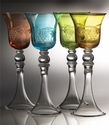 Abigails Set of Four Sherry Glasses Assorted Colors