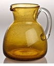 Abigails Pitcher With Bubbles Amber