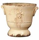 Vietri Rustic Garden Medium Cream Giglio Planter