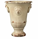 Vietri Rustic Garden Large Cream Lion Planter