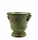 Vietri Rustic Garden Medium Green Giglio Planter