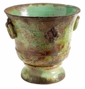 "Vietri Rustic Garden XL Light Green Giglio Planter 18.5"" D"