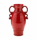 "Vietri Tuscan Garden Medium Red Urn 9"" W, 16"" H"