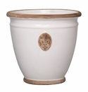 Vietri Rustic Garden Cream/Gray Planter