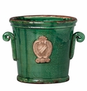 Vietri Rustic Garden Terrace Small Green Planter