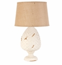 Vietri Tuscan Collection Cream Pinecone Lamp