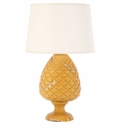Vietri Tuscan Collection Amber Pinecone Lamp
