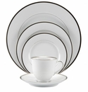 Nikko China Band of Platinum 5 Piece Dinnerware Place Setting
