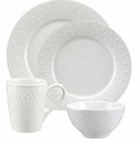 Nikko China Natures Blanc Fleur 4 Piece Dinnerware Place Setting