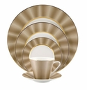 Nikko China Silk Champagne Elite Modern 5 Piece Dinnerware Place Setting