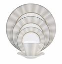 Nikko China Silk Platinum Elite Modern 5 Piece Dinnerware Place Setting