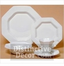 Nikko Ironstone Classic White 5 Piece Dinnerware Place Setting