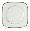 Waterford Kilbarry Platinum Square Accent Salad Plate, 9""