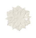 Andrea by Sadek Cream Poinsettia Dessert Plates Set of 4
