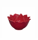 Andrea by Sadek Red Poinsettia Bowls Set of 4 4.75""