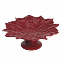 Andrea by Sadek Poinsettia Shaped Cake Stand - Red