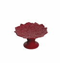 Andrea by Sadek Poinsettia Shaped Cupcake Stand - Red