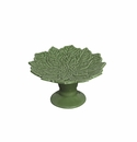 Andrea by Sadek Poinsettia Shaped Cupcake Stand - Green