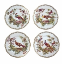 Andrea by Sadek Exotic Birds Set of Four Dessert Plates