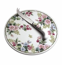 Andrea by Sadek FLOWERS & BERRIES Round Cheese Board & Knife Set