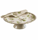 Andrea by Sadek Ivory Monica Cake Plate and Server Set