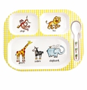 Baby Cie Jungle Animals Tray, Spoon & Cover Set