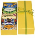 Claus Porto 5 Assorted Soaps Yellow Gift Box Set