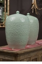 Dessau Home Celadon Lotus Jar
