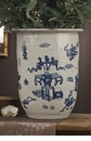 Dessau Home Blue & White Porcelain Planter