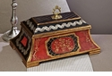 Dessau Home Red/Black Covered Wooden Box