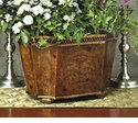 Dessau Home Burlwood Iron Planter