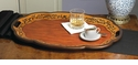 Dessau Home Birch Finish Oval Wood Tray